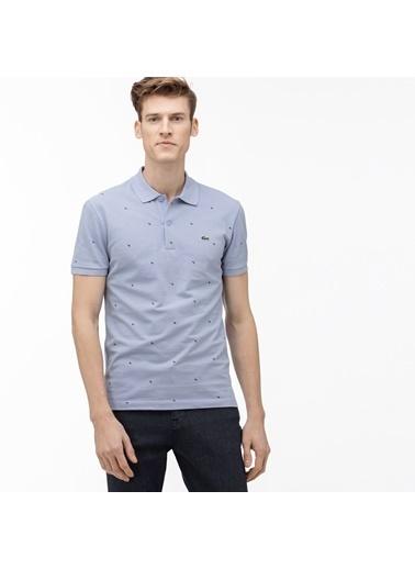 Lacoste Erkek Slim Fit Tişört PH5134.Z0G Mavi